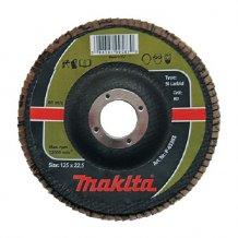 Лепестковый шлифовальный диск Makita 125х22,23 К80, карбид кремния (P-65355).
