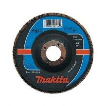 Лепестковый шлифовальный диск Makita 180х22,23 К120, корунд (P-65280).